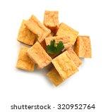 Fried Tofu On A White...