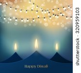 happy diwali festive background ... | Shutterstock .eps vector #320959103