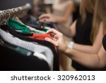 young beautiful women shopping... | Shutterstock . vector #320962013