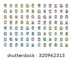flat line colorful icons... | Shutterstock .eps vector #320962313