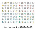 flat line colorful icons... | Shutterstock .eps vector #320962688