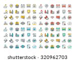 flat line icons set of hotel... | Shutterstock .eps vector #320962703