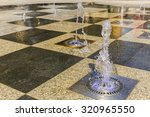 Decorative Jet Fountain On The...
