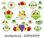 set of fruit logo for groceries ... | Shutterstock .eps vector #320969399