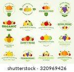 set of fruit and vegetables... | Shutterstock .eps vector #320969426