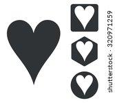 heart set   Shutterstock . vector #320971259