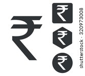 rupee set | Shutterstock . vector #320973008