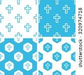 catholic cross patterns set ...