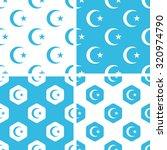 turkey symbol patterns set ...