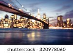 new york city blurred image... | Shutterstock . vector #320978060
