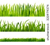 watercolor green grass isolated ... | Shutterstock . vector #320979374