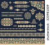 set of decorative elements | Shutterstock .eps vector #320981009