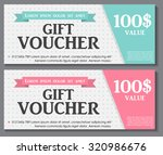gift voucher template with... | Shutterstock .eps vector #320986676