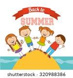 summer vacations design  vector ... | Shutterstock .eps vector #320988386