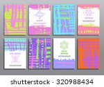 trendy creative cards... | Shutterstock .eps vector #320988434