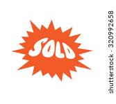 sold flash  vector illustration | Shutterstock .eps vector #320992658
