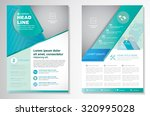 vector brochure flyer design... | Shutterstock .eps vector #320995028