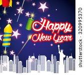 happy new year design  vector... | Shutterstock .eps vector #320995370