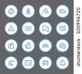 travel web icons set | Shutterstock .eps vector #320996720