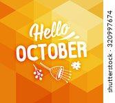 autumn design. geometric... | Shutterstock .eps vector #320997674