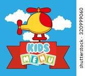 kids menu design  vector...   Shutterstock .eps vector #320999060
