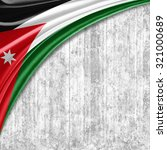 jordan  flag   of  silk with... | Shutterstock . vector #321000689