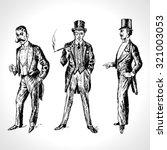 vintage hand drawn gentlemen... | Shutterstock .eps vector #321003053