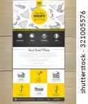 fast food menu concept web site ...