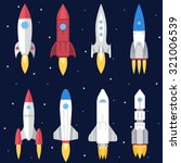 space rocket start up and... | Shutterstock .eps vector #321006539