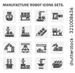 manufacture robot icons sets. | Shutterstock .eps vector #321008636
