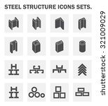 steel structural product such...   Shutterstock .eps vector #321009029
