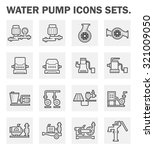 vector icon of water pump... | Shutterstock .eps vector #321009050