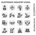 electronics industry icons. | Shutterstock .eps vector #321009074
