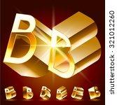 3d vector deluxe alphabet of...   Shutterstock .eps vector #321012260