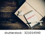 contact us word on pages sketch ... | Shutterstock . vector #321014540