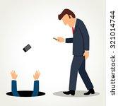 simple cartoon of a businessman ...   Shutterstock . vector #321014744