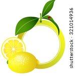 lemon photo frame | Shutterstock .eps vector #321014936