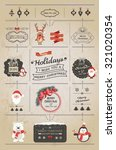 set of christmas ornaments and... | Shutterstock .eps vector #321020354