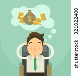 businessman dreaming about... | Shutterstock .eps vector #321022400