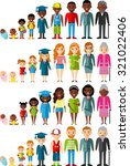 all age group of african... | Shutterstock .eps vector #321022406