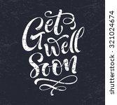 get well soon vector text on... | Shutterstock .eps vector #321024674