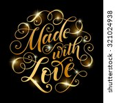 vector golden text on black... | Shutterstock .eps vector #321024938