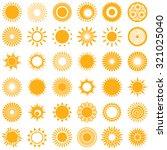 Set Of The Sun Symbols.