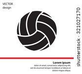 volleyball ball | Shutterstock .eps vector #321027170