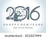 symbol of 2016. monkey in a...   Shutterstock .eps vector #321027494