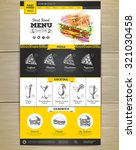fast food menu concept web site ... | Shutterstock .eps vector #321030458