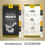 vintage chalk drawing fast food ... | Shutterstock .eps vector #321030500