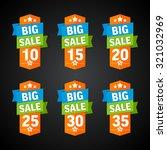 big sale 10 35 percent orange... | Shutterstock .eps vector #321032969