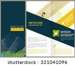 vector brochure layout design... | Shutterstock .eps vector #321041096