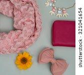 set of beautiful fashion...   Shutterstock . vector #321041654
